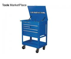 30 in. 5 Drawer Industrial Roller Cart - Blue